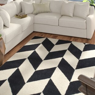 Find Tilley Hand-Tufted Black/White Indoor Area Rug By Wrought Studio