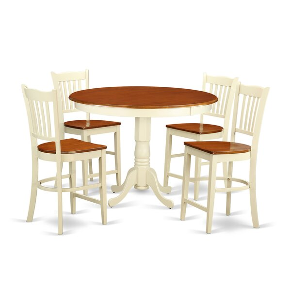 Sobieski 5 Piece Counter Height Pub Table Set by Charlton Home Charlton Home