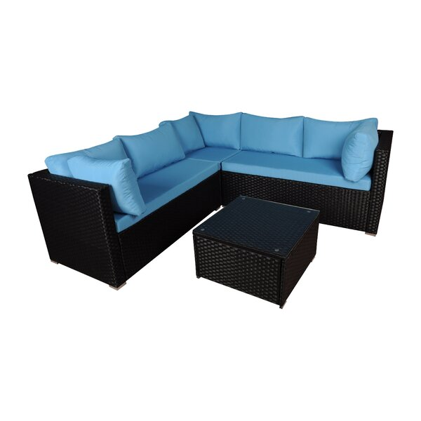 4 Piece Sectional Set with Cushions by Madison Home USA