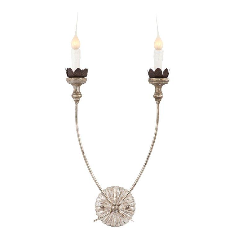 2 - Light Pine Candle Wall Light