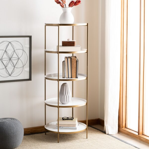 Spofford Round 5 Tier Etagere Bookcase by Everly Quinn