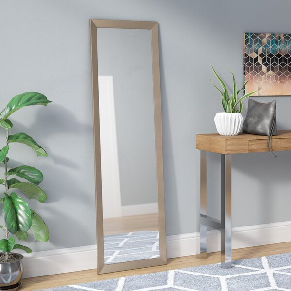Rectangle Silver Petite Full Length Body Mirror by Wade Logan