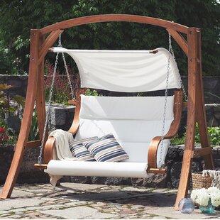 Exceptionnel Wooden Garden Swing Seat