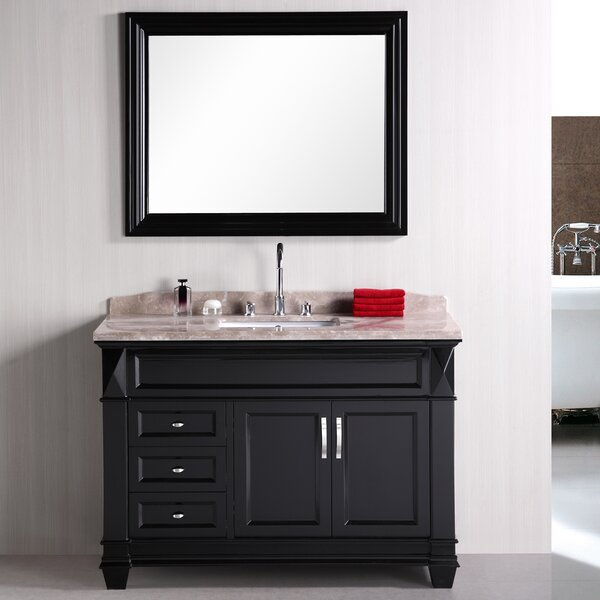 Middletown 48 Single Bathroom Vanity Set with Mirror by Andover Mills
