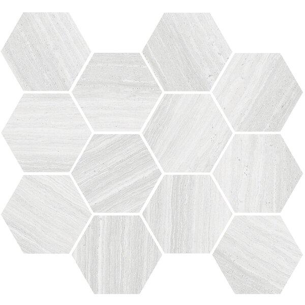 Coastline 3.5 x 3.5 Porcelain Mosaic Tile in Beige by Madrid Ceramics
