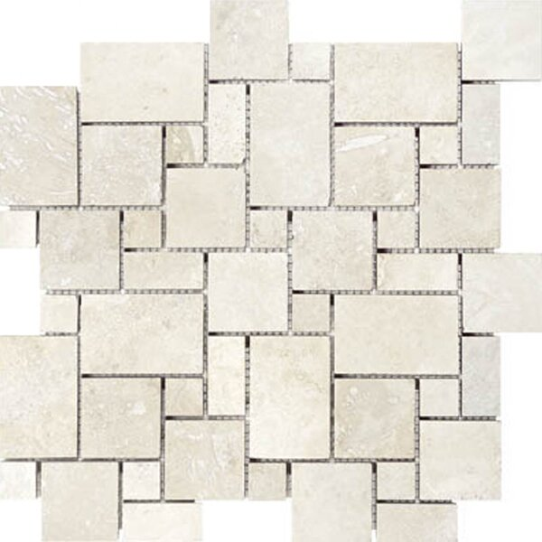 Mini Versailles Random Sized Travertine Mosaic Tile in Beige by Epoch Architectural Surfaces