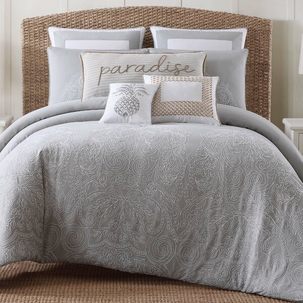 Java Gray/White Comforter Set by Beachcrest Home