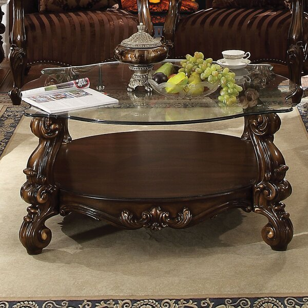 Welton Glass Top Coffee Table by Astoria Grand Astoria Grand