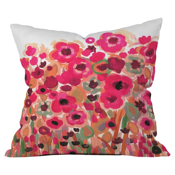 Brightly Blooming Outdoor Throw Pillow