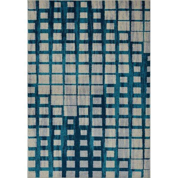 Pinheiro Gray/Blue Area Rug by Latitude Run