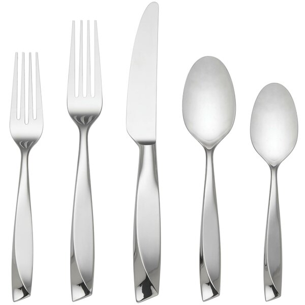 Ondine 5 Piece Flatware Set by Lenox