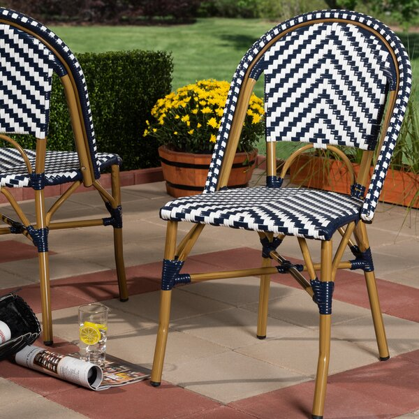 Alaina Classic French Stacking Patio Dining Chair (Set of 2) by Bay Isle Home