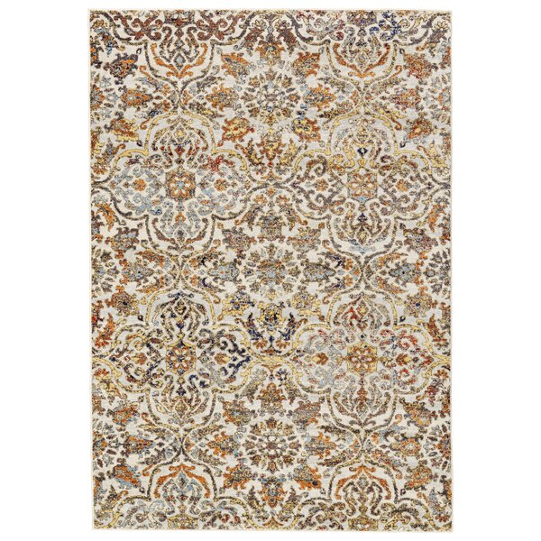 Greenwich Village Cream/Gray Blue Area Rug by Bungalow Rose