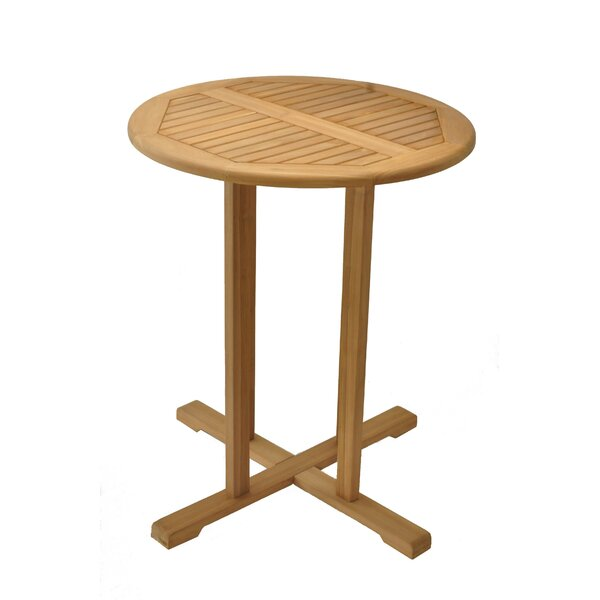 Mathieson Teak Bar Table by Rosecliff Heights