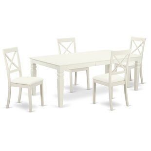 Beesley 5 Piece Solid Wood Dining Set ByDarby Home Co