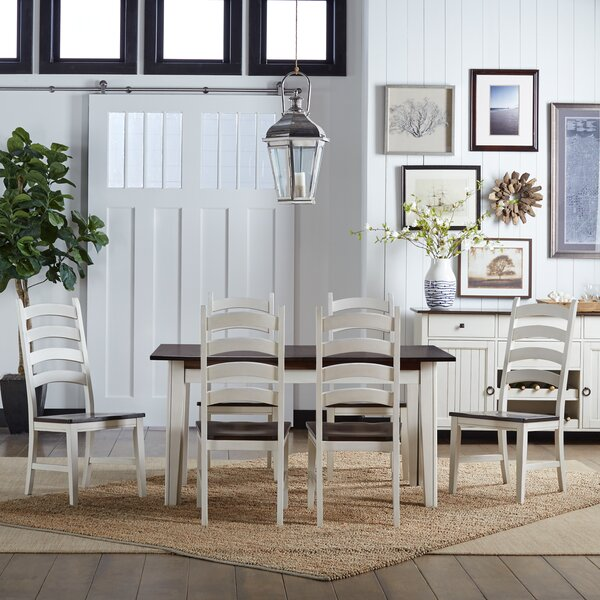 Tamiami 7 Piece Extendable Solid Wood Dining Set by Beachcrest Home