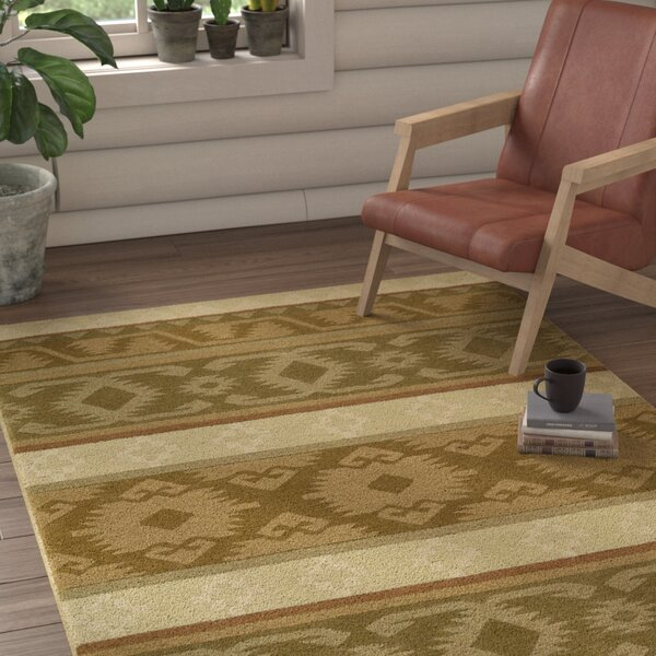 Atna Hand-Tufted Camel Area Rug by Loon Peak