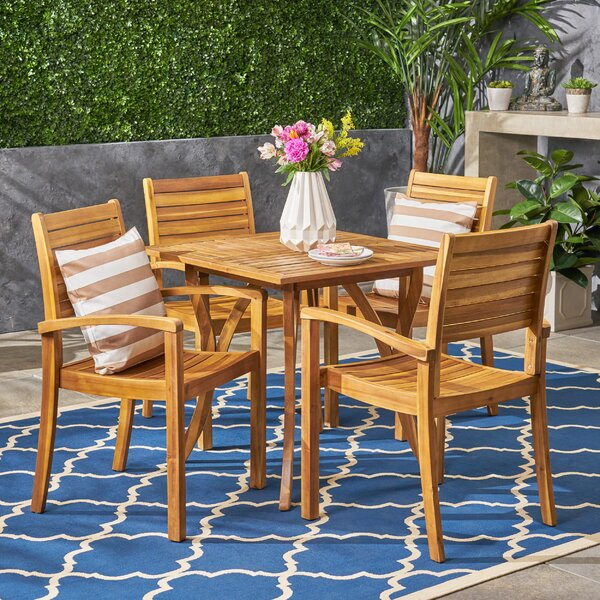 Vanetten 5 Piece Dining Set by Bungalow Rose