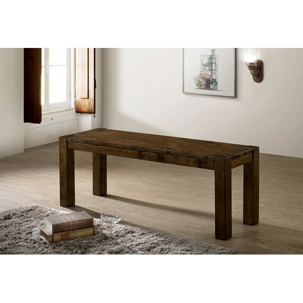 Lockport Wood Bench by Millwood Pines
