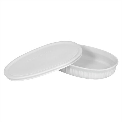 Drexel 23 oz. Oval Dish with Plastic Cover by Mint Pantry