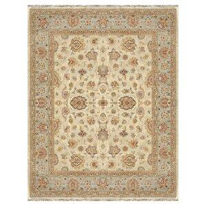 manson blue oriental wool handknotted area rug