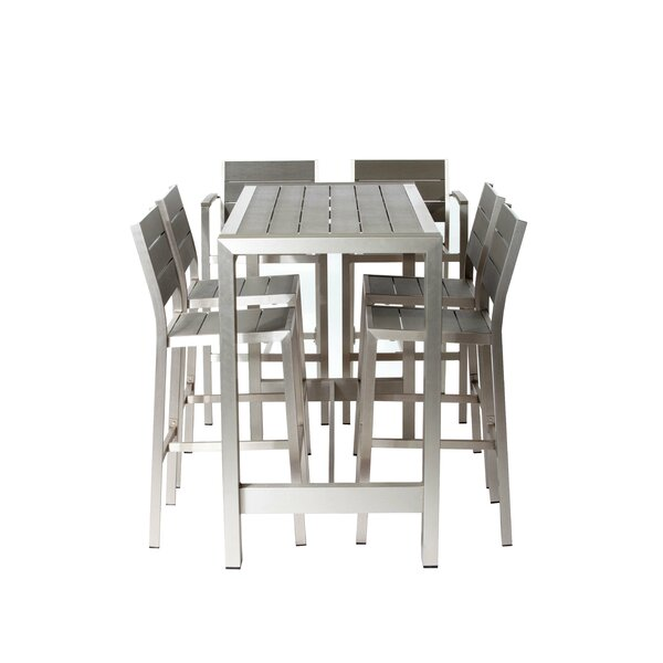 Riddleville 7 Piece Bar Height Dining Set by Rosecliff Heights