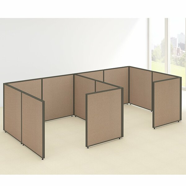 ProPanel 2 Person Closed Cubicle Configuration by Bush Business Furniture