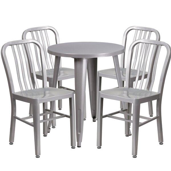 Scotia Metal Indoor/Outdoor 5 Piece Dining Set