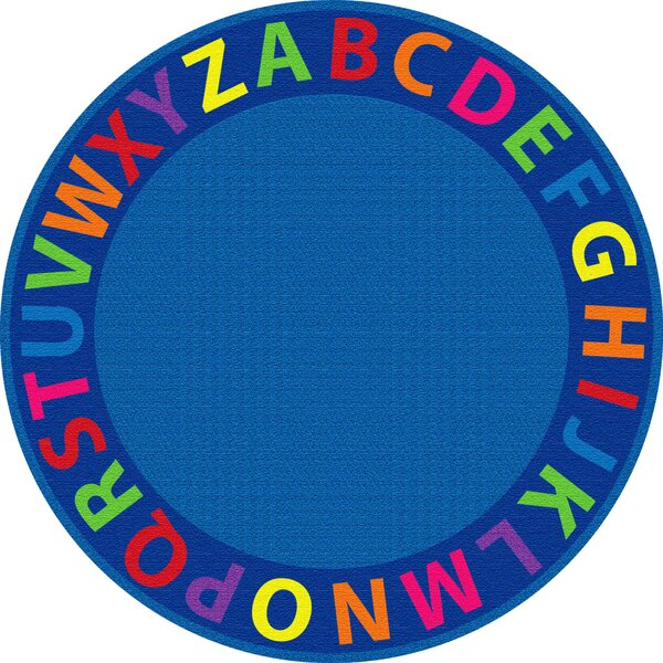 A-Z Circle Time Seating Blue Area Rug by ECR4kids