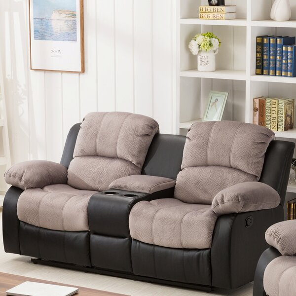Best #1 Brunswick Console Reclining Loveseat By Ebern Designs Wonderful