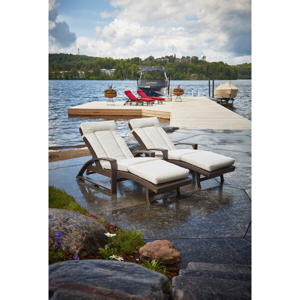 Indoor/Outdoor Sunbrella Chaise Lounge Cushion by Rosecliff Heights