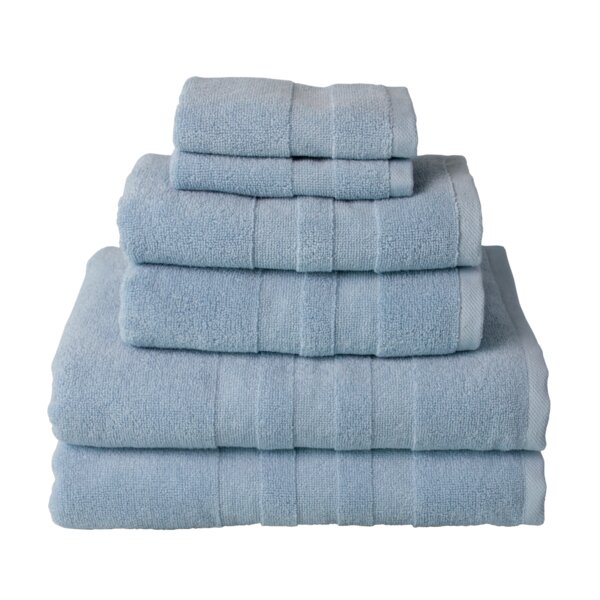 Glasco 6 Piece Turkish Cotton Towel Set by Breakwater Bay