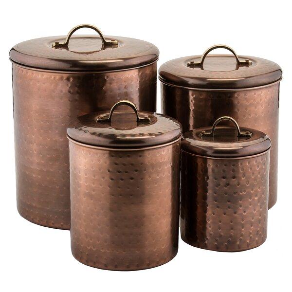 birch russet 4 kitchen canister set reviews wayfair