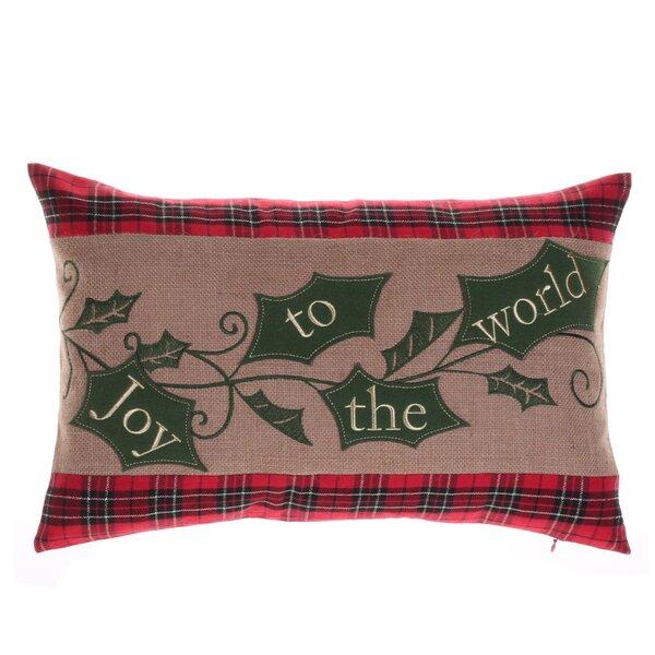 Holiday Holly Lumbar Pillow by 14 Karat Home Inc.