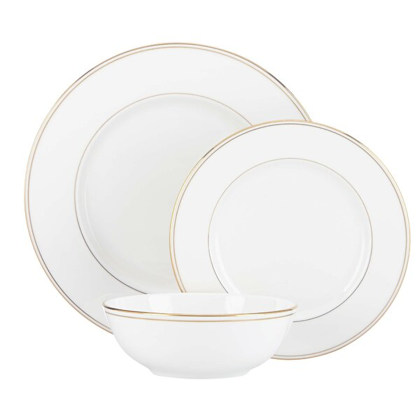 Federal Gold Bone China 3 Piece Place Setting, Service for 1 by Lenox