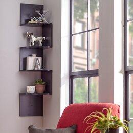 Shelves Living Room. Wall Mounted Corner Shelves Shelving You ll Love  Wayfair