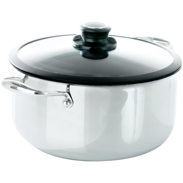 Black Cube™ 7.5-qt. Stock Pot with Lid by Frieling