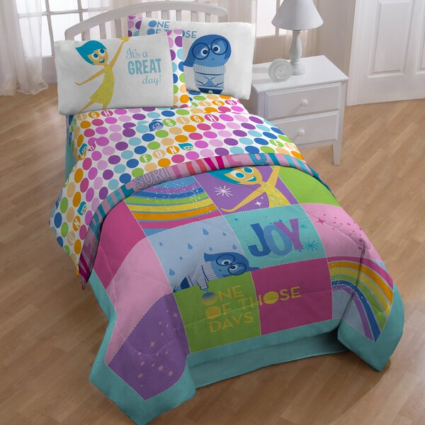 Inside Out Rainbow Patchwork Sheet Set by Disney