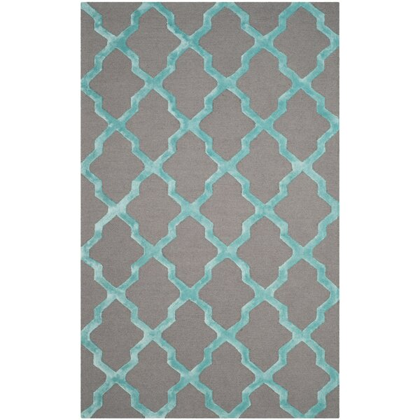 Parker Lane Hand-Tufted Gray/Turquoise Area Rug by Darby Home Co