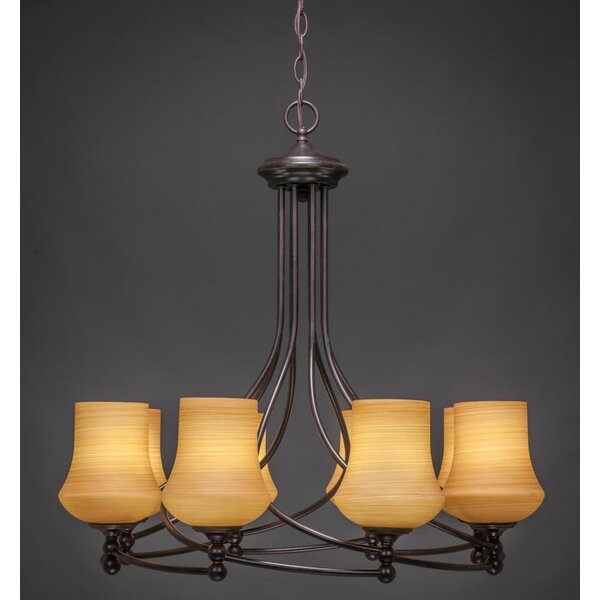 Skypark 8 - Light Shaded Geometric Chandelier by Winston Porter Winston Porter