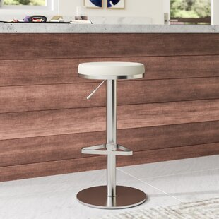 Heitor Adjustable Height Swivel Bar Stool by Wade Logan