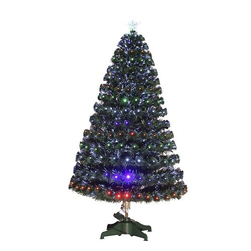 3ft Green Artificial Christmas Tree with 90 Multi-Coloured Lights with Star. £26.99