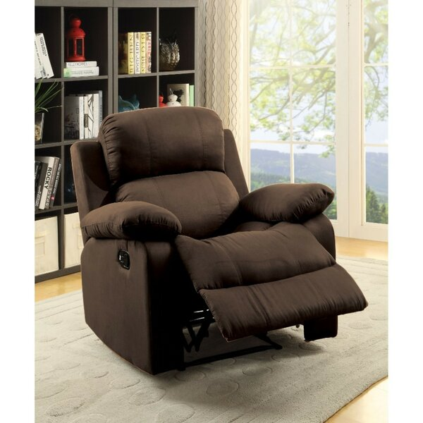Nakamura Upholstered Manual Glider Recliner by Winston Porter