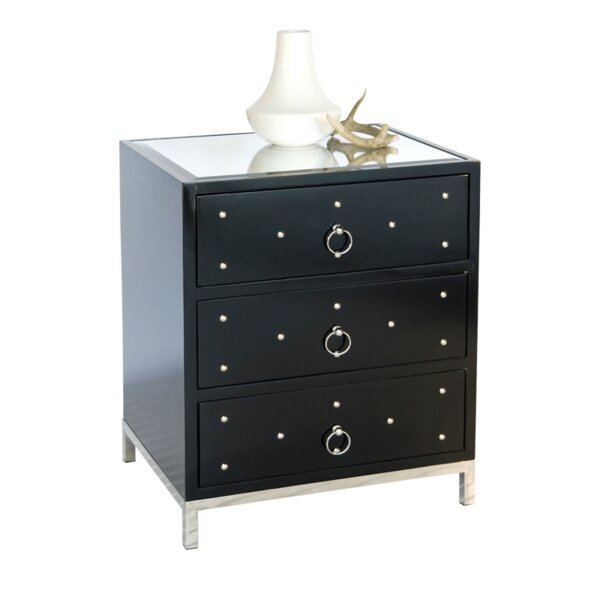 3 Drawer Nightstand by Worlds Away