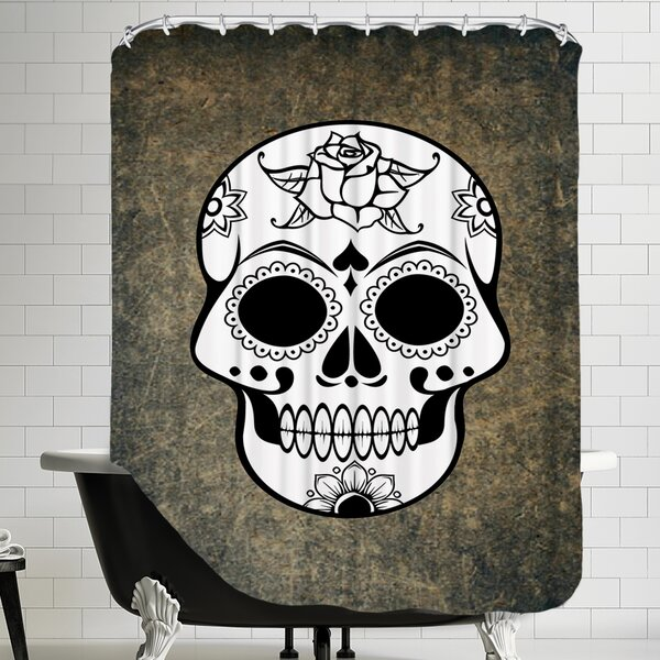 Skull Horror Design Shower Curtain by East Urban Home