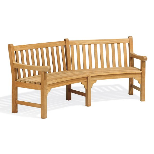 Dunloy Curved Wood Garden Bench by Canora Grey