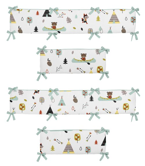Outdoor Adventure Crib Bumper by Sweet Jojo Design