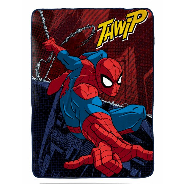 Marvel Spiderman Burst Plush Twin Blanket by Shopkins