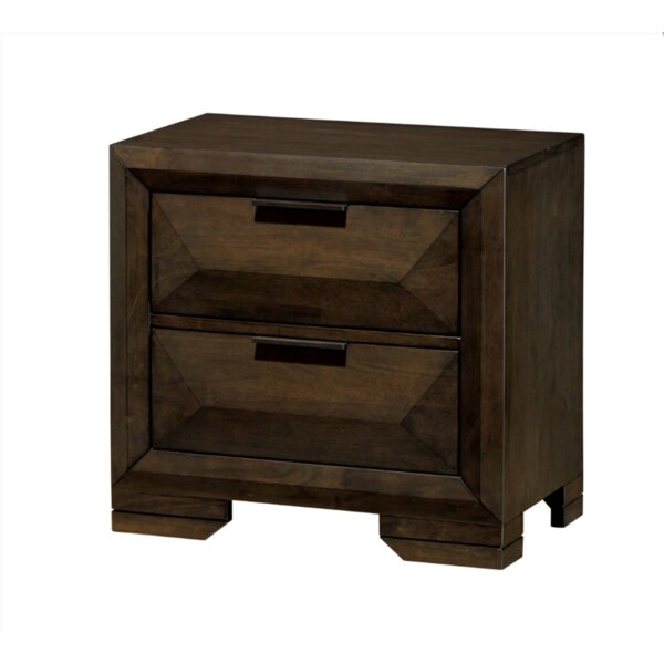 Mitchell 2 Drawer Nightstand by Union Rustic