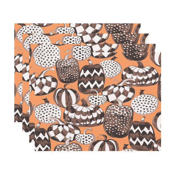 Maser Pumpkins Galore Halloween 18 Placemat (Set of 4) by The Holiday Aisle